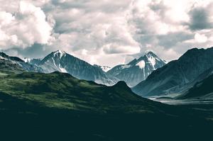 Mountains Along Denali Park Road, Alaska, 2015